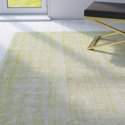 Kingston Lime Rug Rug Size: 36 x 56