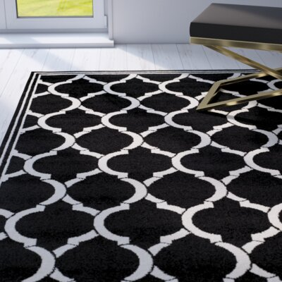 Maritza Anthracite/Ivory Outdoor Area Rug Rug Size: Rectangle 26 x 4