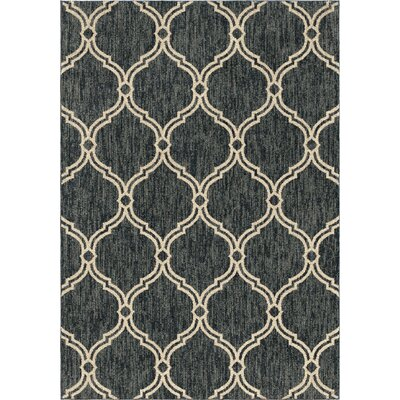 Diamondine Dark Blue Area Rug Rug Size: 53 x 76