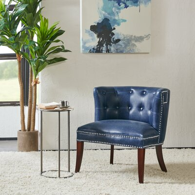Connie Shelter Slipper Chair Upholstery: Navy