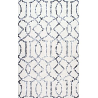 Shores Hand-Tufted Silver Area Rug Rug Size: 86 x 116