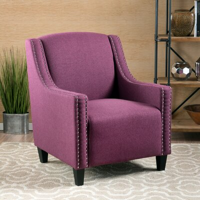 Connolly Armchair Upholstery: Dark Fuschia