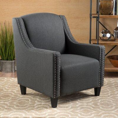 Great Dunmow Nailhead trim Arm Chair Upholstery: Dark Gray