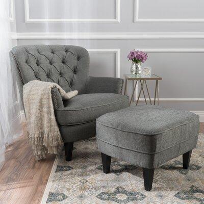 Heywood Armchair Upholstery: Gray