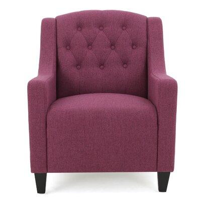 Decker Tufted Armchair Upholstery: Dark Fuschia