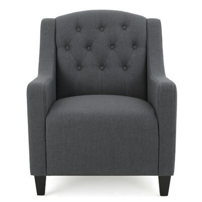 Decker Tufted Armchair Upholstery: Dark Gray