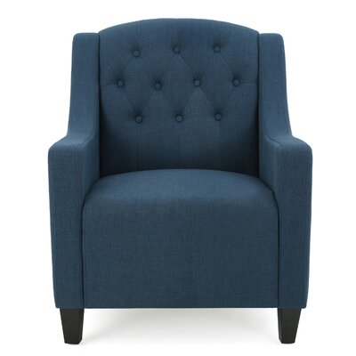 Decker Tufted Armchair Upholstery: Dark Blue