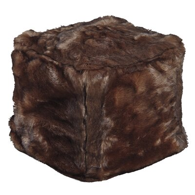 Bourn Pouf Upholstery: Brown