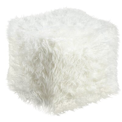 Bourn Pouf Upholstery: White