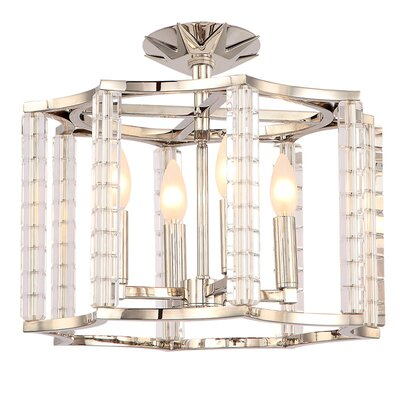Diahann 4-Light Semi-Flush Mount