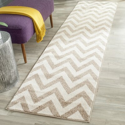 Currey Wheat/Beige Area Rug Rug Size: Runner 23 x 11