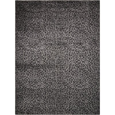 Colletta Charcoal Area Rug Rug Size: 53 x 73