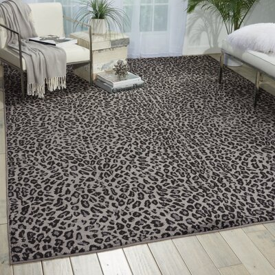 Colletta Charcoal Area Rug Rug Size: Rectangle 53 x 73