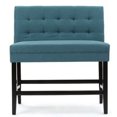 Hemel 28.5 inch Bar Stool Upholstery: Dark Teal