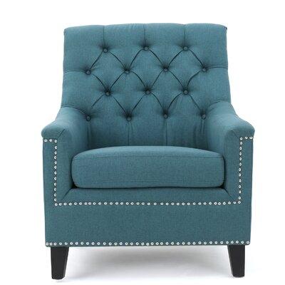 Brondesbury Fabric Arm Chair Upholstery: Dark Teal