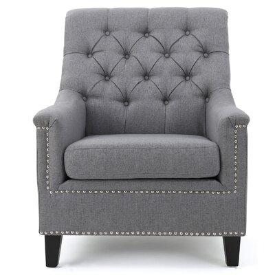 Highbury Fabric Armchair Upholstery: Gray
