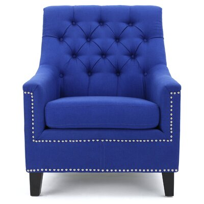Highbury Fabric Armchair Upholstery: Royal Blue