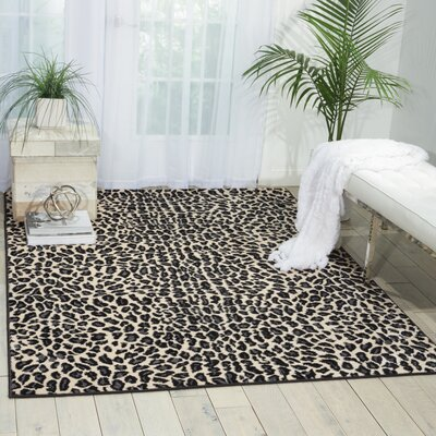 Colletta Ivory/Black Area Rug Rug Size: Rectangle 710 x 106