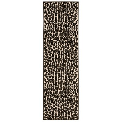 Colletta Ivory/Black Area Rug Rug Size: Runner 22 x 73