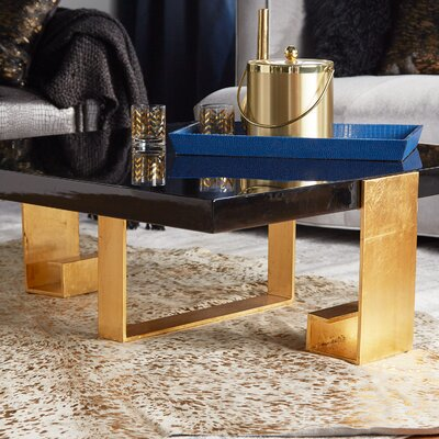Reynaldo Wood Top Coffee Table