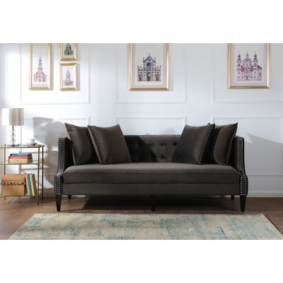 Kinsley Sofa Upholstery: Dark Charcoal Grey
