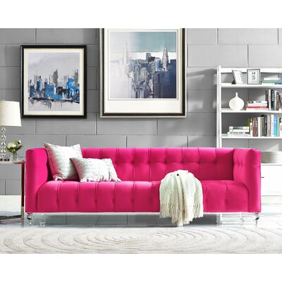 Kittrell Chesterfield Sofa Upholstery: Pink
