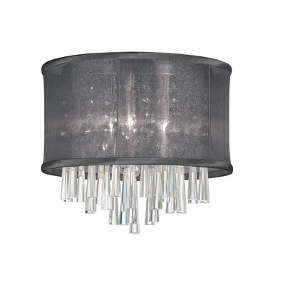 Louth 3-Light Flush Mount Shade Color: Black