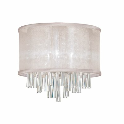 Louth 3-Light Flush Mount Shade Color: Oyster
