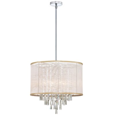Louth 6-Light Drum Pendant Shade Color: Oyster