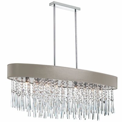 Louth 8-Light Crystal Chandelier Shade Color: Brown