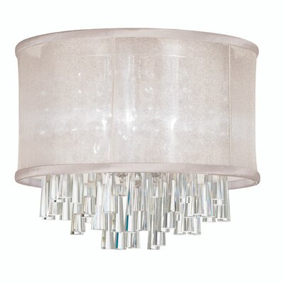 Louth 4-Light Flush Mount Shade Color: Oyster
