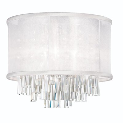 Louth 4-Light Flush Mount Shade Color: White