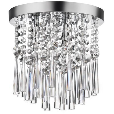 Reay 3-Light Crystal Flush Mount