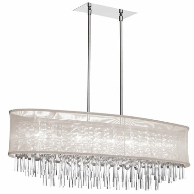 Reay 8-Light Kitchen Island Pendant Shade Color: Oyster Organza