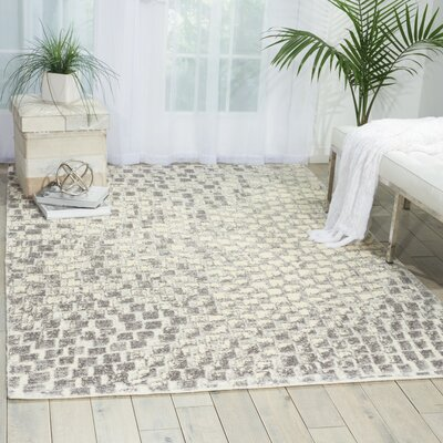 Axel Cream Area Rug Rug Size: 86 x 116