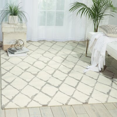Charmine Ivory Area Rug Rug Size: Rectangle 99 x 139