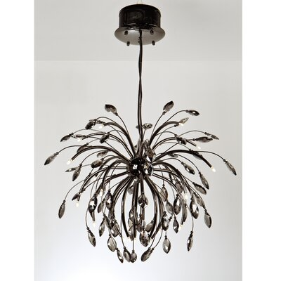 Rothwell 16-Light Crystal Chandelier Finish: Graphite, Size: 35 H x 32 W
