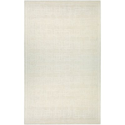 Bridlington Hand-Woven Off White Area Rug Rug Size: 97 x 137