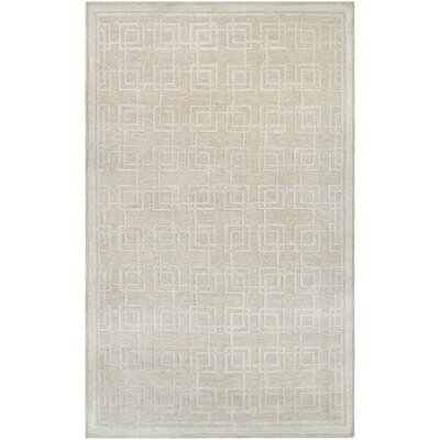 Bridlington Hand-Woven Tan Area Rug Rug Size: 36 x 56