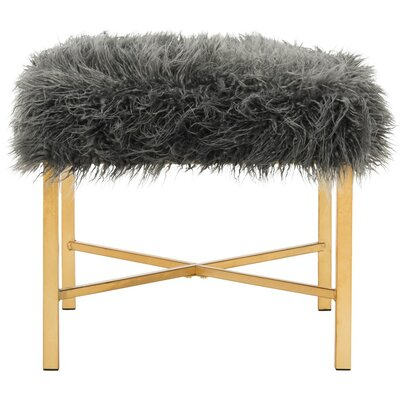 Moonstone Faux Lamb Bedroom Bench Upholstery Color: Gray MRCR8152 34129640