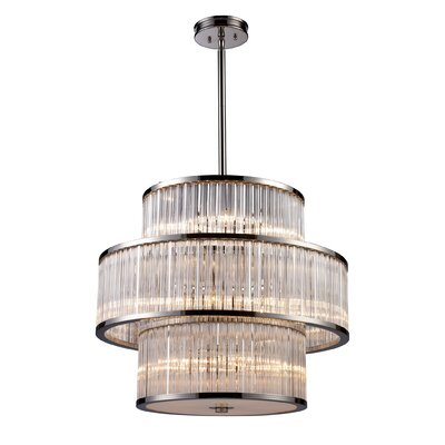 Grandidier 15-Light Crystal Pendant