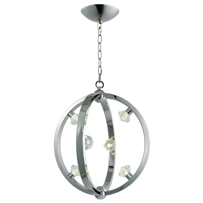 Stotfield 6-Light Foyer Pendant Finish: Polished Nickel
