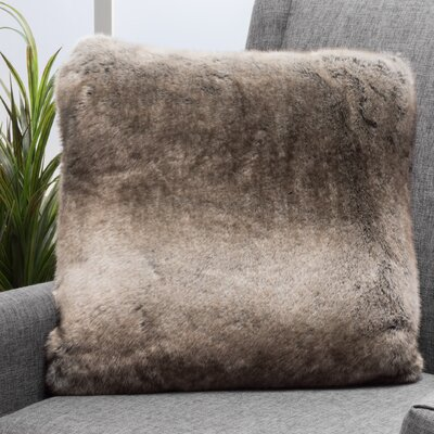 Stony Stratford Plush Fabric Throw Pillow Color: Light Brown