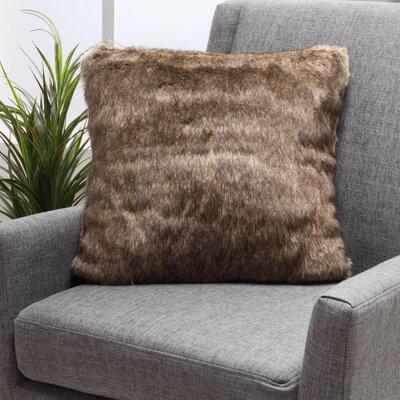 Stony Stratford Plush Fabric Throw Pillow Color: Dark Brown