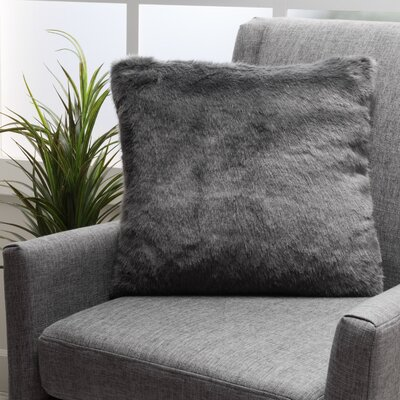 Stony Stratford Plush Fabric Throw Pillow Color: Dark Gray