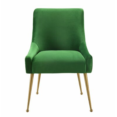 De�bora Side Chair Upholstery: Green