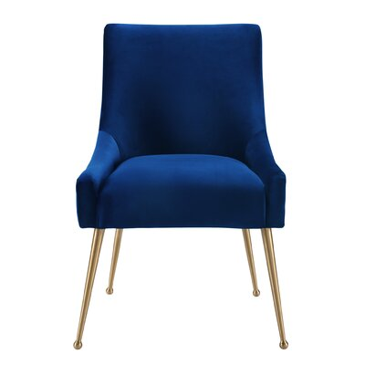 De�bora Side Chair Upholstery: Navy