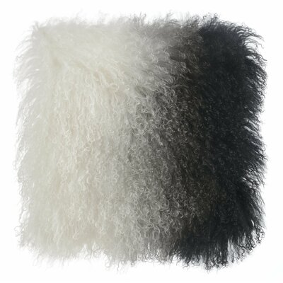 Chappel Tibetan Sheep Indoor Throw Pillow Color: White/Black