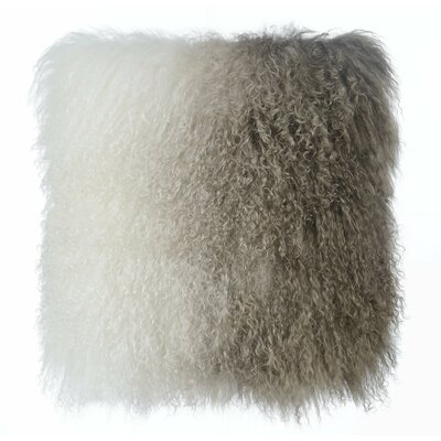 Chappel Tibetan Sheep Indoor Throw Pillow Color: White/Brown