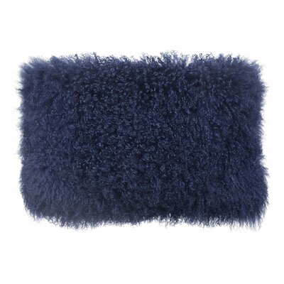 Chappel Tibetan Sheep Lumbar Pillow Color: Blue